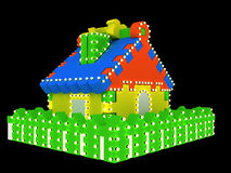Toy house Stock Photo