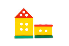 Toy house. Isolated colored childrens  toy house Stock Images