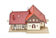 Toy house. On white background Stock Photos