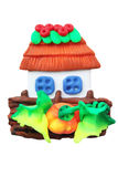 Toy house. From the plastic/magnet for the refrigerator Stock Image