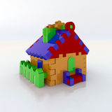 Toy house. Construction toy house 3d illustration Royalty Free Stock Images