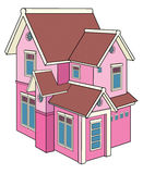 Toy house. A replica of two-story house made from wood Royalty Free Stock Image