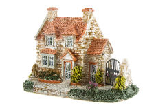 The toy house. Isolated over white background Royalty Free Stock Image