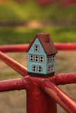 Toy  house. Toy blue ceramic souvenir house Stock Image