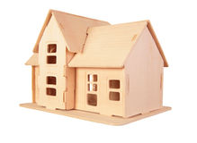 Toy house. focus on door Stock Image