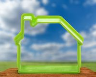 Toy house form as symbol Royalty Free Stock Photo