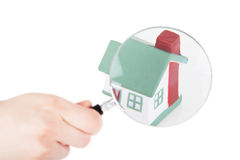 Searching houses Royalty Free Stock Photos