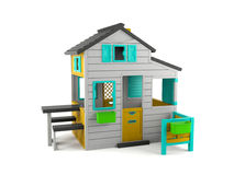 Toy house isolated. Children's toy house isolated on white background Royalty Free Stock Photos