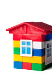 Toy house isolated on white Royalty Free Stock Photography
