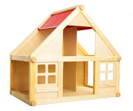 Toy house isolated on white Stock Photos