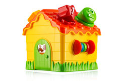 Toy house isolated on white. Toy house isolated on white background Royalty Free Stock Photo