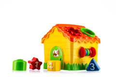 Toy house isolated on white. Toy house isolated on white background Royalty Free Stock Photos