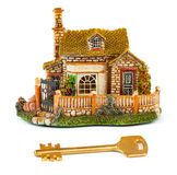 Toy house and key Stock Photos