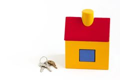 Toy house and keys Royalty Free Stock Photo