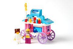 Toy house model on. A white background Royalty Free Stock Images