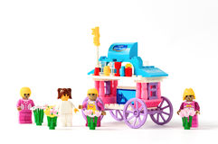Toy house model on. A white background Stock Photos