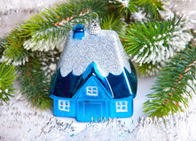 Toy house - New Year's dream of own house Stock Image