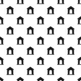 Toy house pattern vector. Toy house pattern seamless in simple style vector illustration Stock Photo