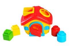 Toy House plástico com formas Fotos de Stock