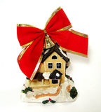 Toy-house with Red Bow Stock Images
