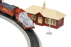 Toy house train Royalty Free Stock Images