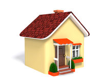 Toy house on a white background Stock Photos