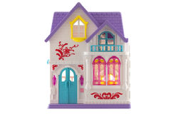 Toy House on White Background Royalty Free Stock Photo