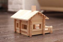 Toy House of wooden sticks Stock Photos