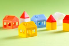 Toy houses Royalty Free Stock Photos