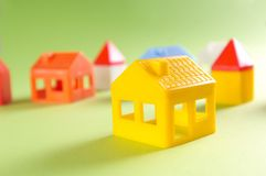 Toy houses Royalty Free Stock Photography
