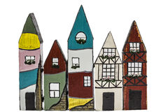 Toy houses,  on white background Royalty Free Stock Image