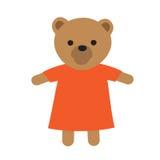 Toy Icon drôle Illustration d'ours dans la robe Images libres de droits