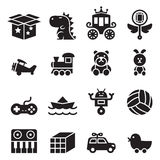 Toy icon set. Vector illustration Graphic Design symbol Stock Photography