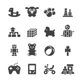Toy icon set Royalty Free Stock Images
