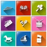 Toy Icons Photo stock