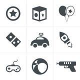 Toy icons, mono  symbols Stock Photo