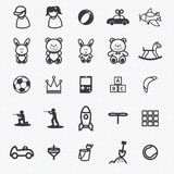 Toy icons set.illustration royalty free illustration