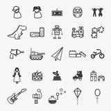 Toy icons set.illustration Stock Photography