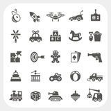 Toy icons set Stock Photos
