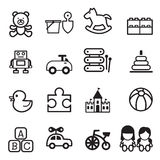 Toy icons set. Toy icons Vector Illustration Graphic Design royalty free illustration