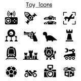 Toy icons Stock Image