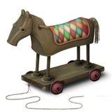 Toy iron horse. In a circus. Computer graphics Stock Photos