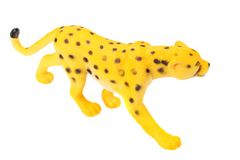 Toy jaguar isolated on a white background royalty free stock images