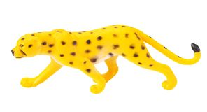 Toy jaguar isolated on a white background stock image