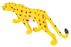 Toy jaguar isolated on a white background royalty free stock image