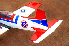 Toy jet airplane flaying , Made with foam.  stock image