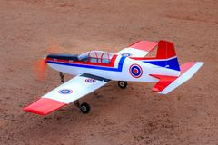 Toy jet airplane flaying , Made with foam.  royalty free stock photo
