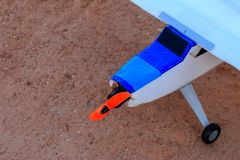 Toy jet airplane flaying , Made with foam.  royalty free stock image