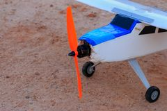 Toy jet airplane flaying , Made with foam.  stock photography