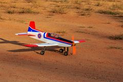 Toy jet airplane flaying , Made with foam.  royalty free stock photography